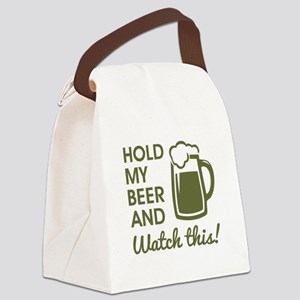 HOLD MY BEER Canvas Lunch Bag