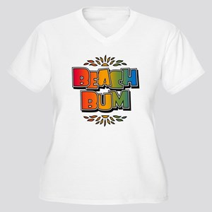 Beach Bum Retro Rainbow Plus Size T-Shirt