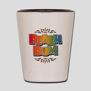 Beach Bum Retro Rainbow Shot Glass