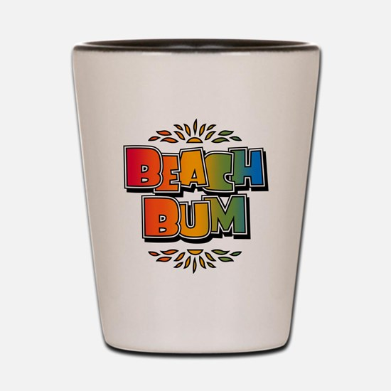 Beach Bum Retro Rainbow Shot Glass