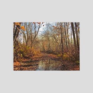 Autumn Nature Trail 5'x7'Area Rug