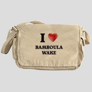 I Love Bamboula Wake Messenger Bag