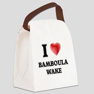 I Love Bamboula Wake Canvas Lunch Bag