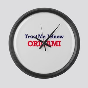 Trust Me, I know Origami Large Wall Clock