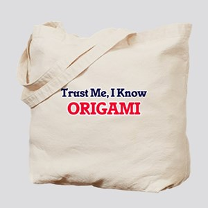 Trust Me, I know Origami Tote Bag
