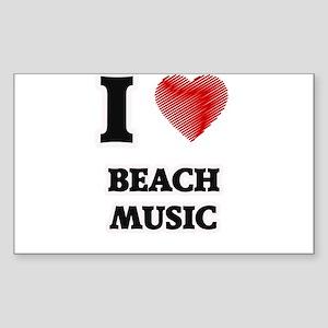 I Love Beach Music Sticker