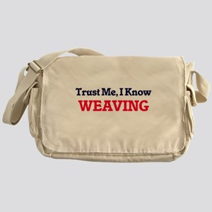 Trust Me, I know Weaving Messenger Bag