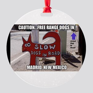 Madrid, New Mexico Round Ornament