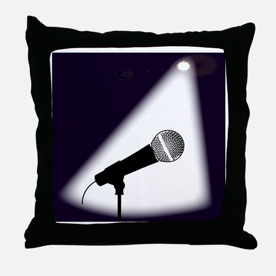 Cute Comedian Throw Pillow
