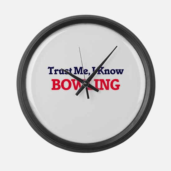 Trust Me, I know Bowling Large Wall Clock
