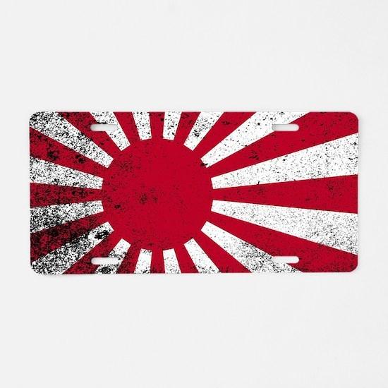 Unique Japan flag Aluminum License Plate