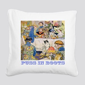 Puss In Boots Square Canvas Pillow