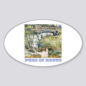 Puss In Boots Sticker (Oval)