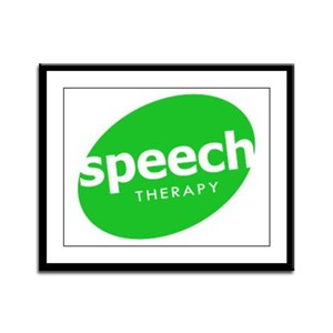 Speech Therapy Framed Panel Print