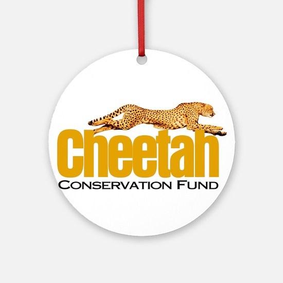 Cheetah Conservation Fund Round Ornament