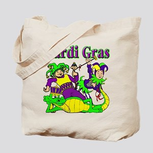 Mardi Gras Jesters and Gator Tote Bag