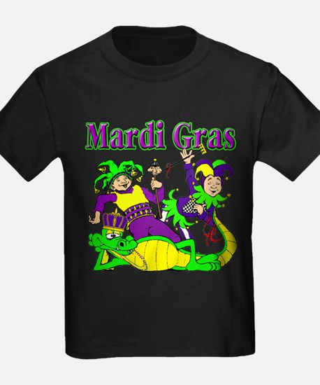 Mardi Gras Jesters and Gator T