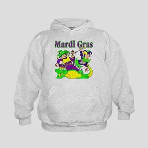 Mardi Gras Jesters and Gator Kids Hoodie