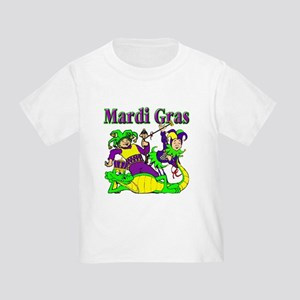 Mardi Gras Jesters and Gator Toddler T-Shir