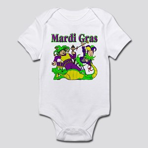 Mardi Gras Jesters and Gator Infant Bodysuit