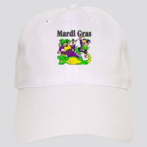 Mardi Gras Jesters and Gator Cap