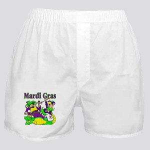 Mardi Gras Jesters and Gator Boxer Shorts
