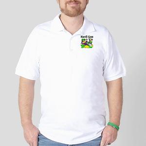 Mardi Gras Jesters and Gator Golf Shirt