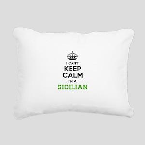 SICILIAN I cant keeep ca Rectangular Canvas Pillow