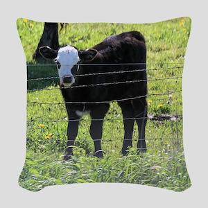 Calf Woven Throw Pillow