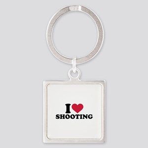 I love shooting Square Keychain