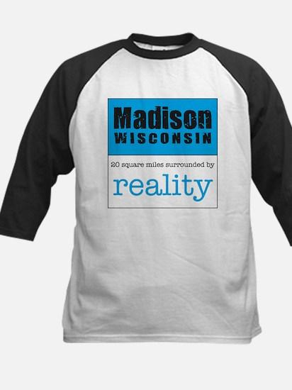 Madison Wisconsin surrounded Kids Baseball Jersey