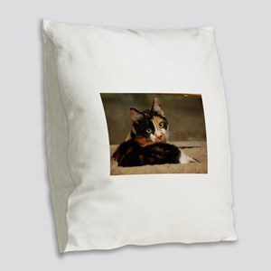 Gypsy Burlap Throw Pillow