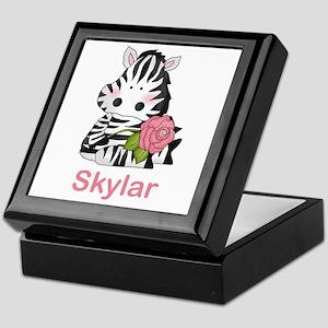 Skylar's Zebra Rose Keepsake Box