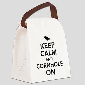 Keep calm and Cornhole on Canvas Lunch Bag