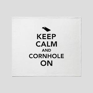 Keep calm and Cornhole on Throw Blanket