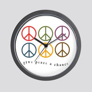 Give Peace a Chance - 6 Signs Wall Clock