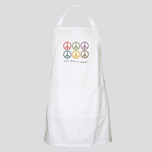 Give Peace a Chance - 6 Signs BBQ Apron