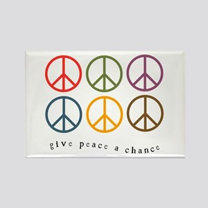 Give Peace a Chance - 6 Signs Rectangle Magnet