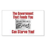 Gov't. Feed Sticker (Rectangle 50 pk)