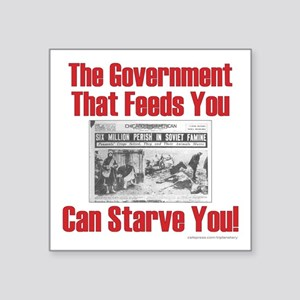 "Gov't. Feed Square Sticker 3"" x 3"""