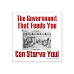 Gov't. Feed Square Sticker 3