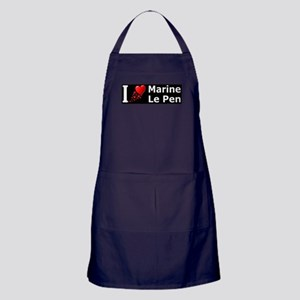 I Love Marine Le Pen Apron (dark)