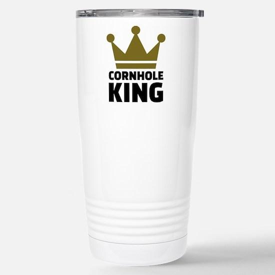 Cornhole king Stainless Steel Travel Mug