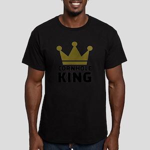 Cornhole king Men's Fitted T-Shirt (dark)