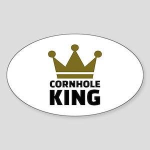 Cornhole king Sticker (Oval)