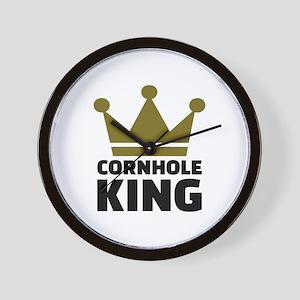 Cornhole king Wall Clock