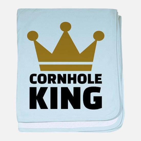 Cornhole king baby blanket