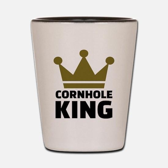 Cornhole king Shot Glass