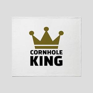 Cornhole king Throw Blanket