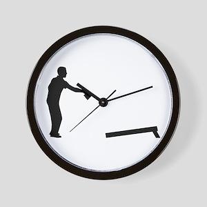 Cornhole player Wall Clock
